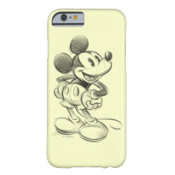 Case-Mate Barely There iPhone 6 Case with Sketched Mickey Mouse Drawing design