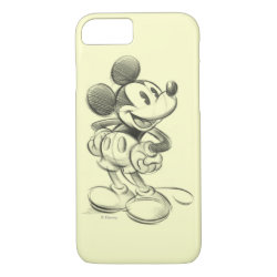 Case-Mate Barely There iPhone 7 Case with Sketched Mickey Mouse Drawing design