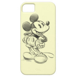Case-Mate Vibe iPhone 5 Case with Sketched Mickey Mouse Drawing design