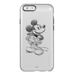 Incipio Feather® Shine iPhone 6 Case with Sketched Mickey Mouse Drawing design