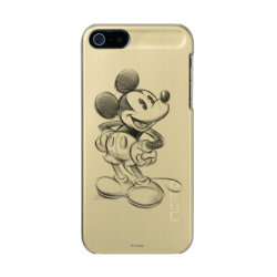 Incipio Feather Shine iPhone 5/5s Case with Sketched Mickey Mouse Drawing design