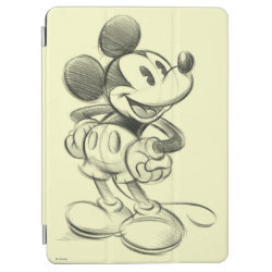 iPad Air Cover with Sketched Mickey Mouse Drawing design