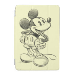 iPad mini Cover with Sketched Mickey Mouse Drawing design