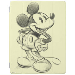 Sketched Mickey Mouse Drawing iPad 2/3/4 Cover