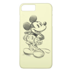 Case-Mate Tough iPhone 7 Plus Case with Sketched Mickey Mouse Drawing design