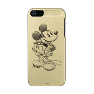Classic Mickey | Sketch Metallic Phone Case For iPhone SE/5/5s