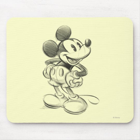 Classic Mickey   Sketch Mouse Pad