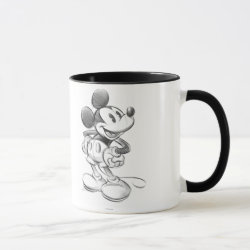 Combo Mug with Sketched Mickey Mouse Drawing design