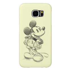 Case-Mate Barely There Samsung Galaxy S6 Case with Sketched Mickey Mouse Drawing design