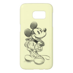 Case-Mate Barely There Samsung Galaxy S7 Case with Sketched Mickey Mouse Drawing design