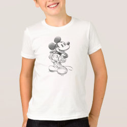 Kids' American Apparel Fine Jersey T-Shirt with Sketched Mickey Mouse Drawing design