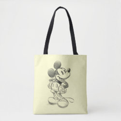 All-Over-Print Tote Bag, Medium with Sketched Mickey Mouse Drawing design