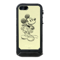 Sketched Mickey Mouse Drawing Incipio Feather Shine iPhone 5/5s Case