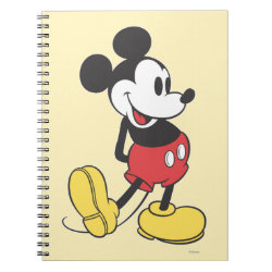 Photo Notebook (6.5' x 8.75', 80 Pages B&W) with Classic Mickey Mouse design