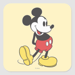 Square Sticker with Classic Mickey Mouse design