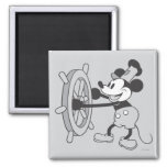 Classic Mickey | Steamboat Willie 2 Inch Square Magnet