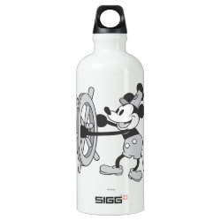 SIGG Traveller Water Bottle (0.6L) with Steamboat Willie Mickey Mouse design