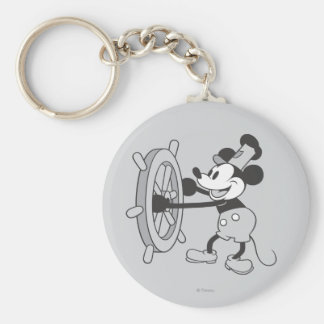 Classic Mickey | Steamboat Willie Basic Round Button Keychain