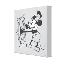 Classic Mickey | Steamboat Willie Canvas Print