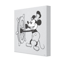 Premium Wrapped Canvas with Steamboat Willie Mickey Mouse design