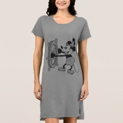 Kids' American Apparel Organic T-Shirt with Steamboat Willie Mickey Mouse design
