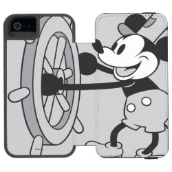 Incipio Watson™ iPhone 5/5s Wallet Case with Steamboat Willie Mickey Mouse design