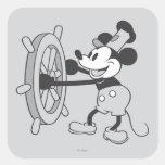 Classic Mickey   Steamboat Willie Square Sticker