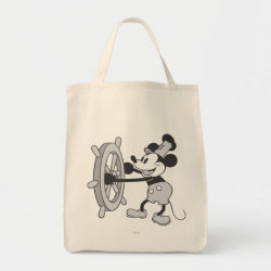 Grocery Tote with Steamboat Willie Mickey Mouse design