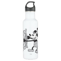 Water Bottle (24 oz) with Steamboat Willie Mickey Mouse design