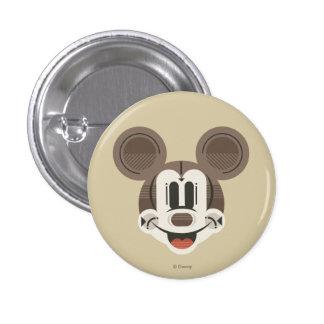 Classic Mickey | Stylized Stripes Retro Head Button