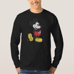 Men's Basic Long Sleeve T-Shirt with Classic Mickey Mouse design