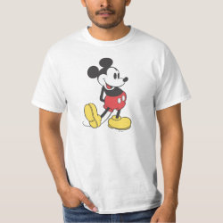 Men's Crew Value T-Shirt with Classic Mickey Mouse design