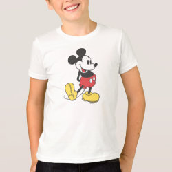 Kids' American Apparel Fine Jersey T-Shirt with Classic Mickey Mouse design