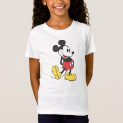 Girls' Fine Jersey T-Shirt with Classic Mickey Mouse design