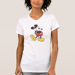 Women's American Apparel Fine Jersey Short Sleeve T-Shirt with Classic Mickey Mouse design