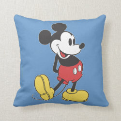 Cotton Throw Pillow with Classic Mickey Mouse design