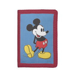 TriFold Nylon Wallet with Classic Mickey Mouse design