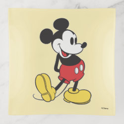 Glass Tray with Classic Mickey Mouse design