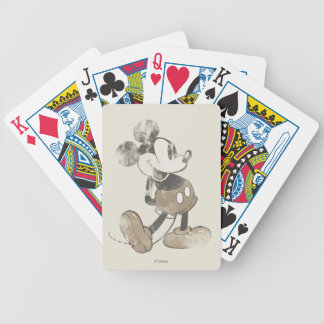 Classic Mickey   Vintage Hands Behind Back Bicycle Playing Cards