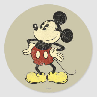 Classic Mickey | Vintage Hands on Hips Classic Round Sticker