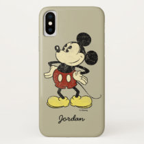 Classic Mickey | Vintage Hands on Hips iPhone XS Case