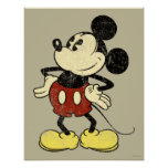 Classic Mickey   Vintage Hands on Hips Poster