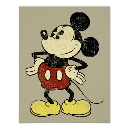 Classic Mickey | Vintage Hands on Hips Poster