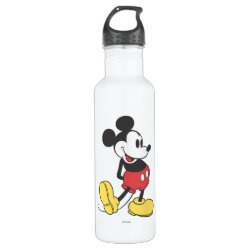 Water Bottle (24 oz) with Classic Mickey Mouse design