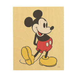 8'x10' Wood Canvas with Classic Mickey Mouse design