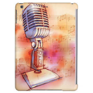 Classic Microphone, watercolor background Case For iPad Air