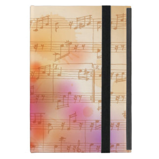 Classic Microphone, watercolor background Cover For iPad Mini