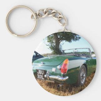 Classic Midget Sportscar Key Chain