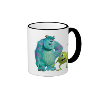 Classic Mike & Sully Waving Disney Ringer Coffee Mug