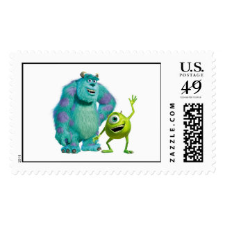 Classic Mike & Sully Waving Disney Postage